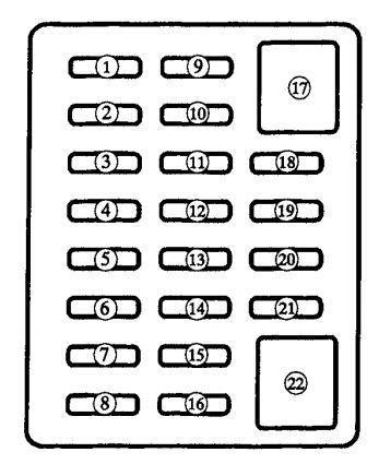 2000 Mazda Miata Fuse Panel Diagram Wiring Diagram 2019