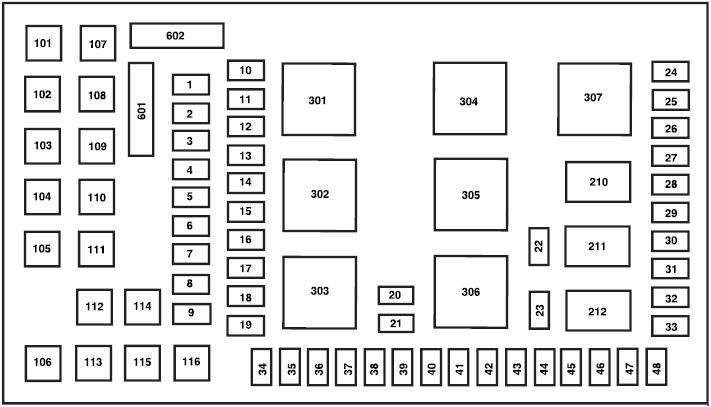 2004 ford f350 diesel fuse panel diagram
