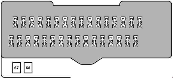 Lexus RX 330 (2004 - 2006) - fuse box diagram - Auto Genius