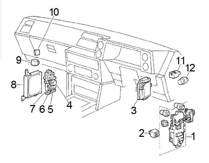 Toyota Corolla AE86 (1983 - 1987) - fuse box diagram - Auto Genius