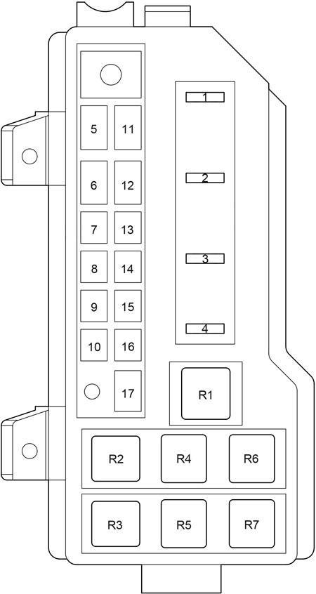 Toyota HiAce (2004 - 2013) - fuse box diagram - Auto Genius