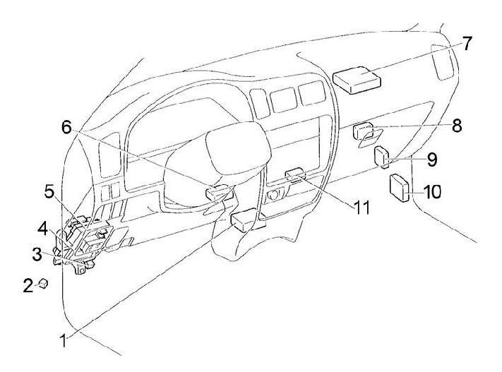 Toyota Hilux (1997 - 2005) - fuse box diagram - Auto Genius