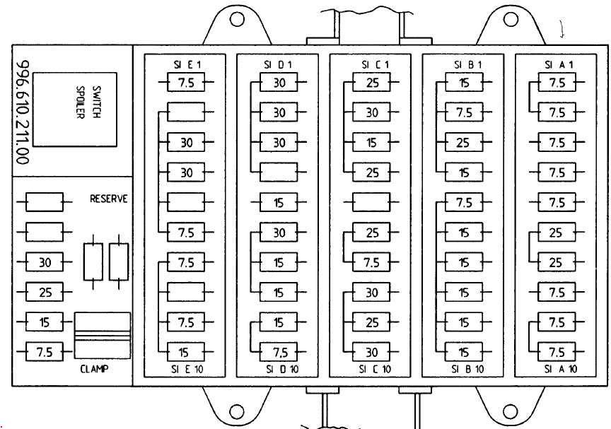 porsche boxster fuse box diagram 987