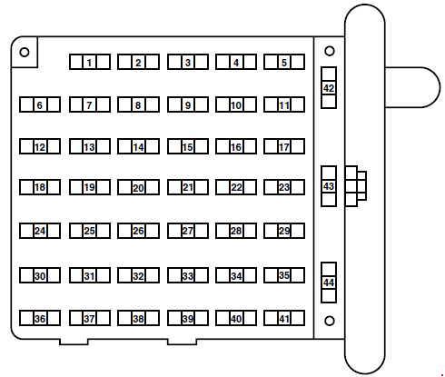 1998 ford e 150 fuse box diagram
