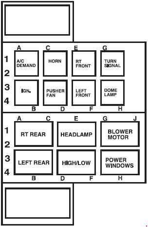 Ford LCF (Low cab forward) (2006 - 2009) - fuse box diagram - Auto