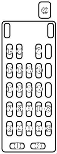fuse box diagram for 2002 mazda 626
