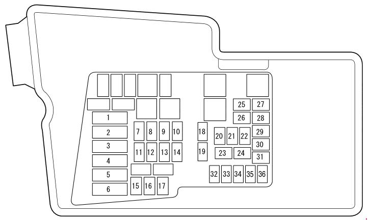 2009 mazda cx 7 fuse box diagram