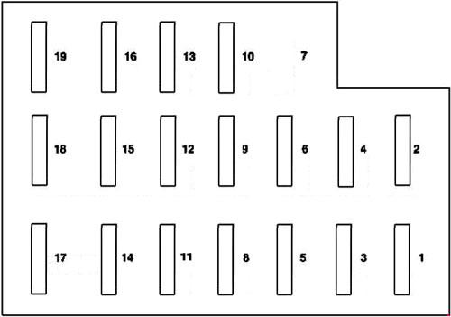 mercedes benz fuse box diagram in the trunk