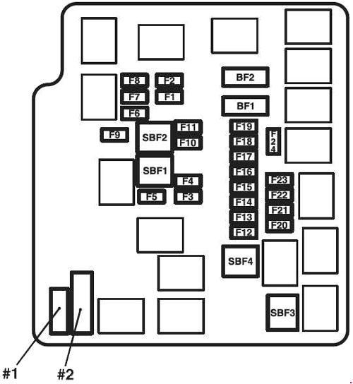 mitsubishi mirage fuse box diagram