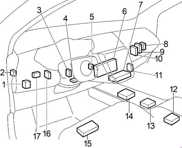 Nissan Murano (2002 - 2007) - fuse box diagram - Auto Genius