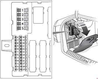 rear 2005 saab 9 3 fuse box diagram