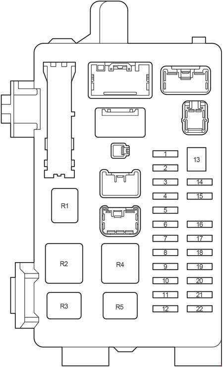 Toyota Ipsum (2000 - 2006) - fuse box diagram - Auto Genius