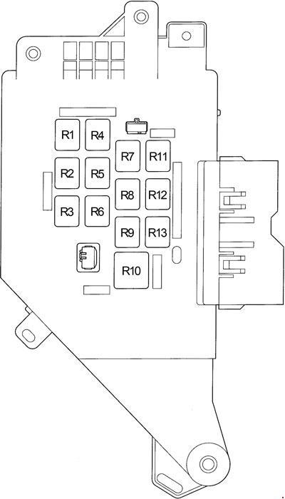1998 toyota land cruiser fuse box diagram