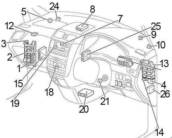 Toyota Picnic (2000 - 2006) - fuse box diagram - Auto Genius