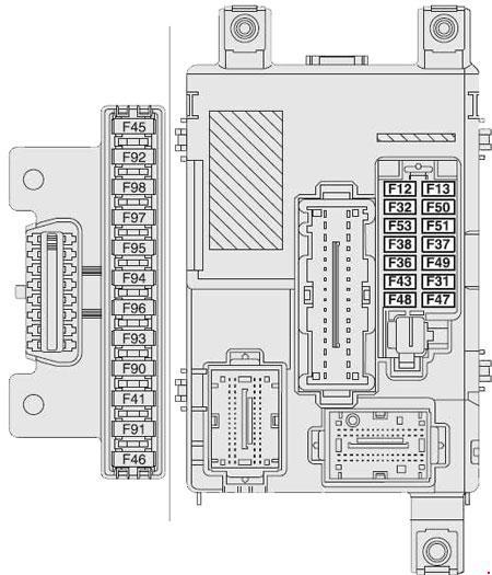 Vauxhall Combo D (2011 - present) - fuse box diagram - Auto Genius
