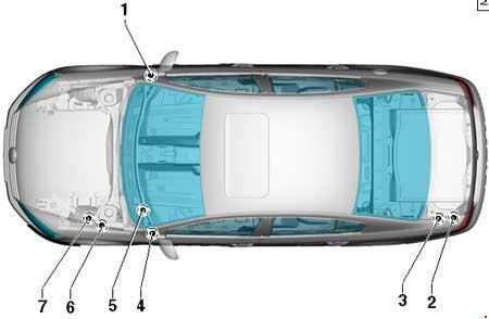 Volkswagen Passat (B7; 2010 - 2015) - fuse box diagram - Auto Genius