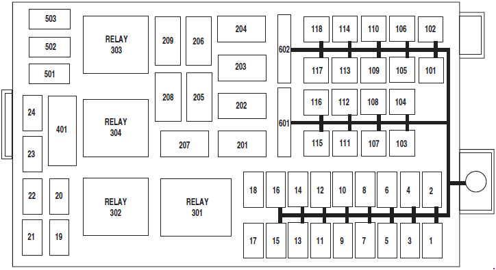 Mercury Grand Marquis (2003 - 2011) - fuse box diagram - Auto Genius