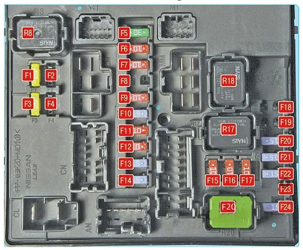 2011 nissan juke fuse box diagram