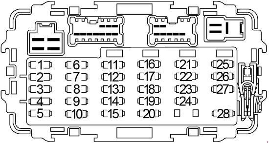 Nissan Frontier (1997 - 2004) - fuse box diagram - Auto Genius