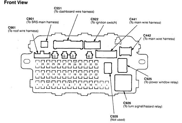 Acura Integra (1998 - 1999) \u2013 fuse box diagram - Auto Genius
