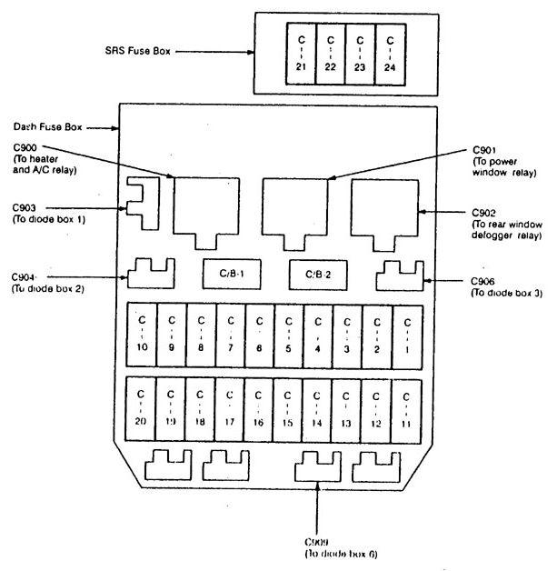 isuzu trooper fuse diagram