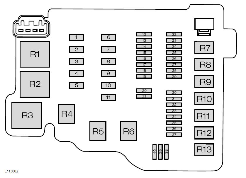 ford fiesta fuse box diagram 2006