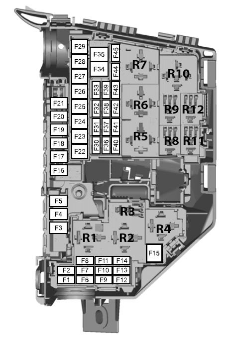 Ford Mondeo (01/02/2007 - 19/08/2007) - fuse box diagram (EU version