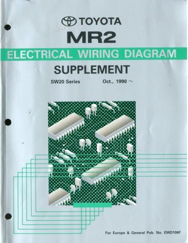 1990 toyota mr2 electrical wiring diagram workshop manual english