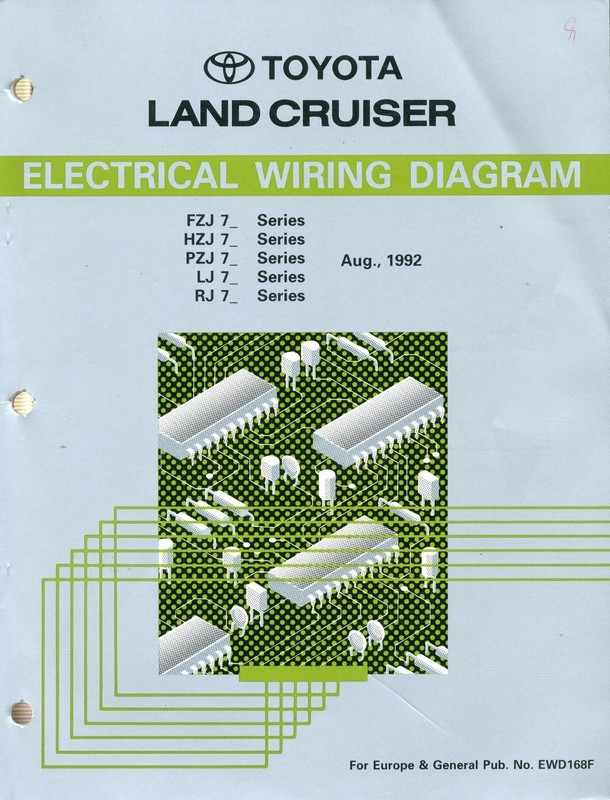 1992 toyota land cruiser wiring diagram
