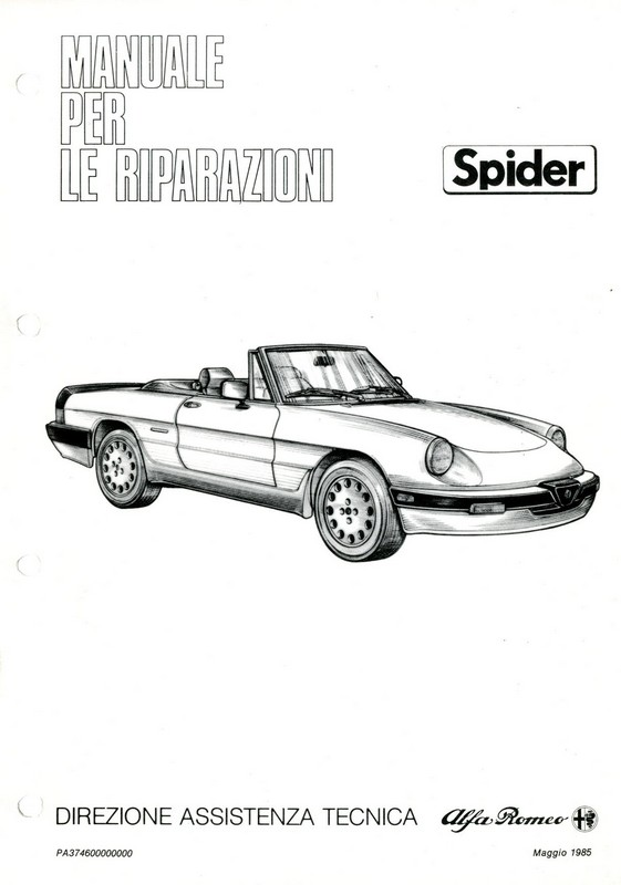 alfa romeo spider wiring owners manual