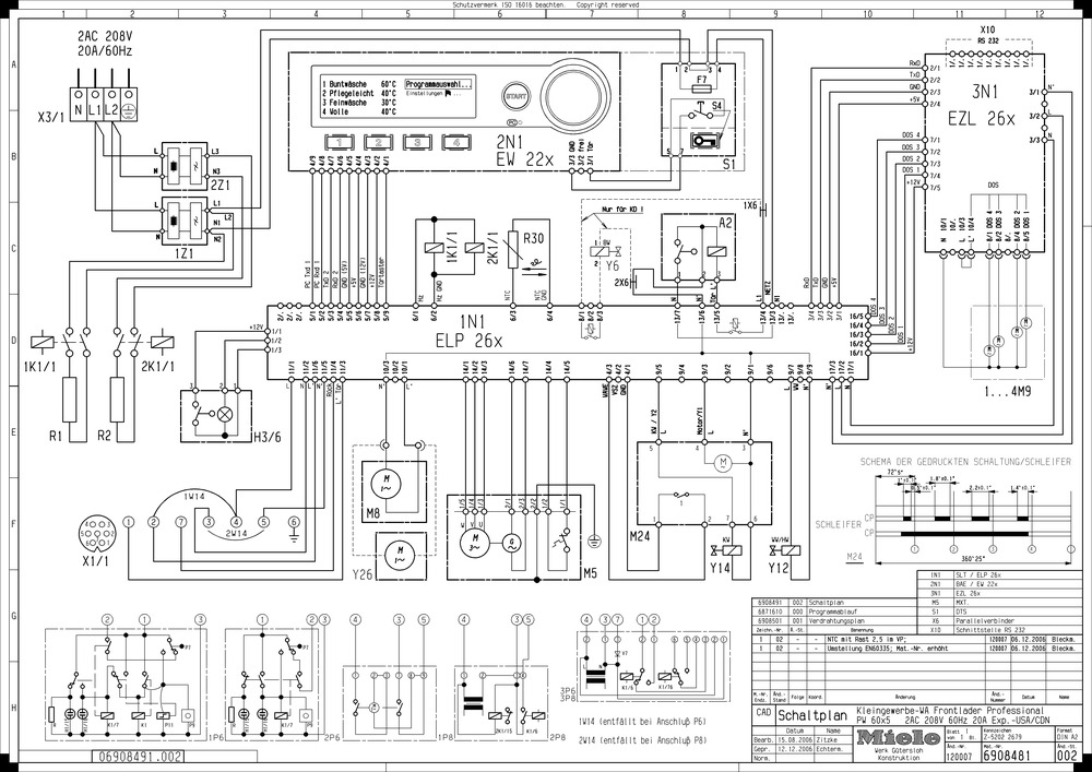 Miele PW6065 wiring diagram or schematic?