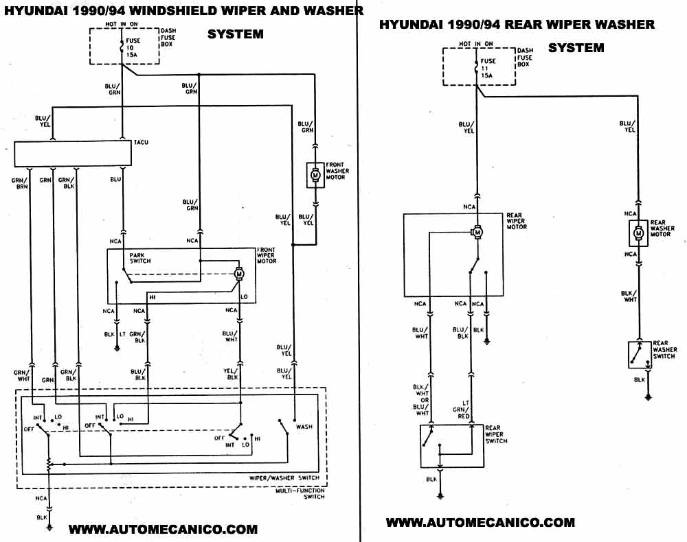 hyundai diagrama de cableado de la de la