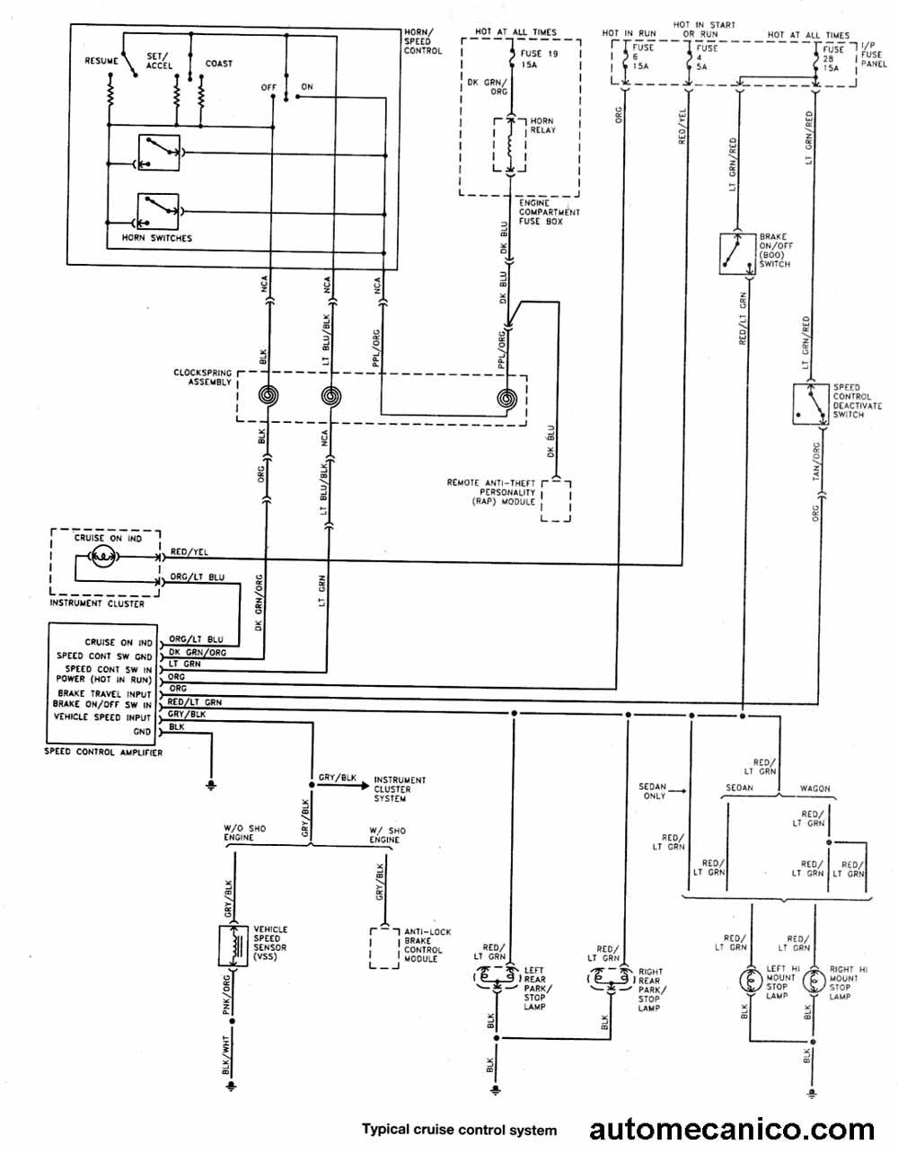 1994 ford ranger Diagrama del motor