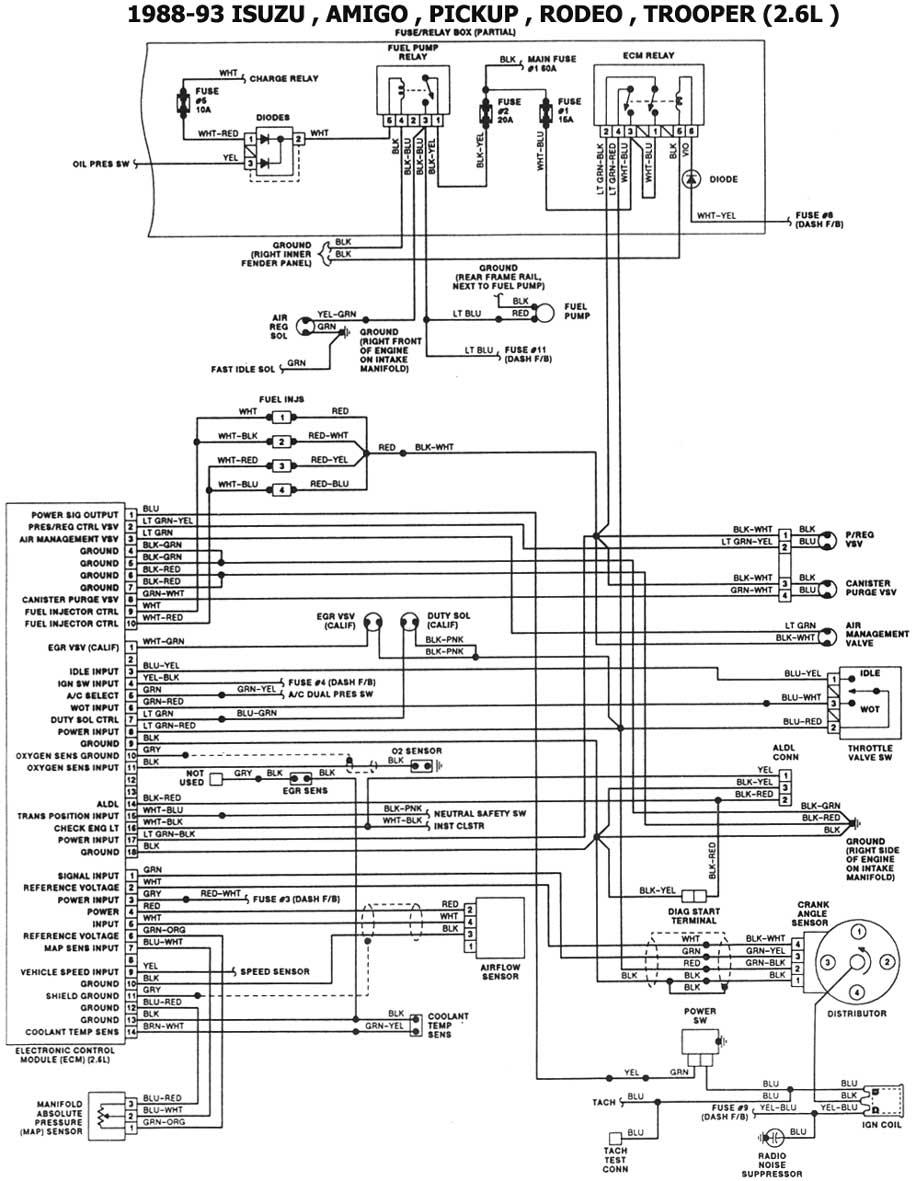 isuzu diagrama de cableado de vidrios
