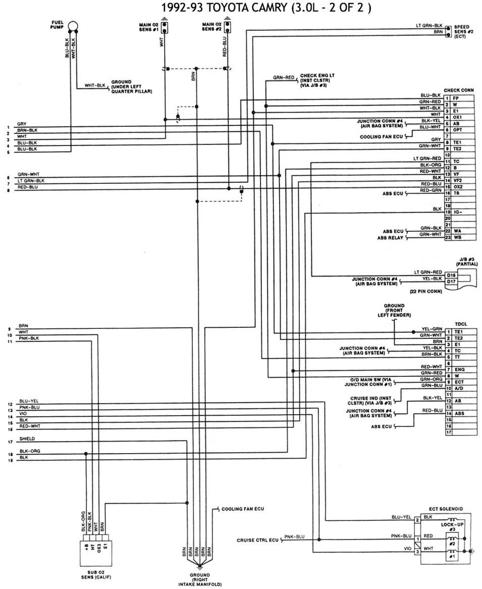 1990 toyota v6 Diagrama del motor