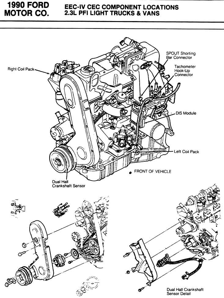 ford 2 3l Diagrama del motor