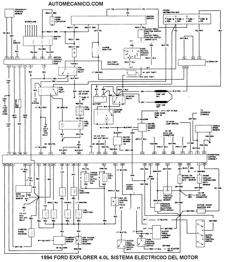 diagrama de cableado for 1994 ford explorer