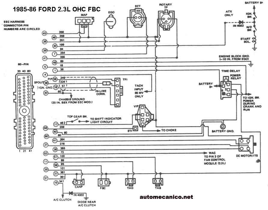 1985 mustang wiring diagram