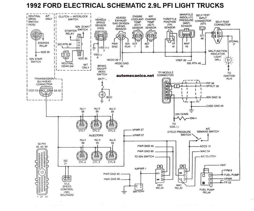1989 ford ranger diagrama de cableado