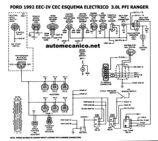 diagrama de cableado for 1990 ford probe