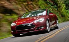 La calandre de la Model S en rouge