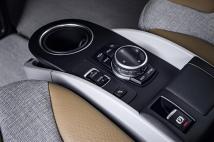 Commandes de la BMW i3, entre les deux sièges