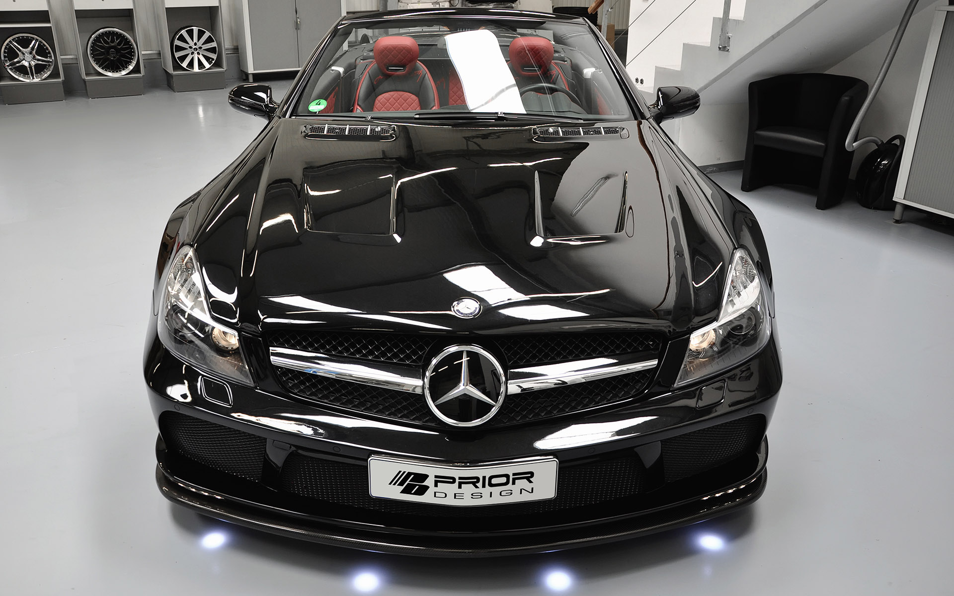 Mercedes Modified Cars Wallpapers Prior Design Mercedes Benz Sl R230 Black Edition