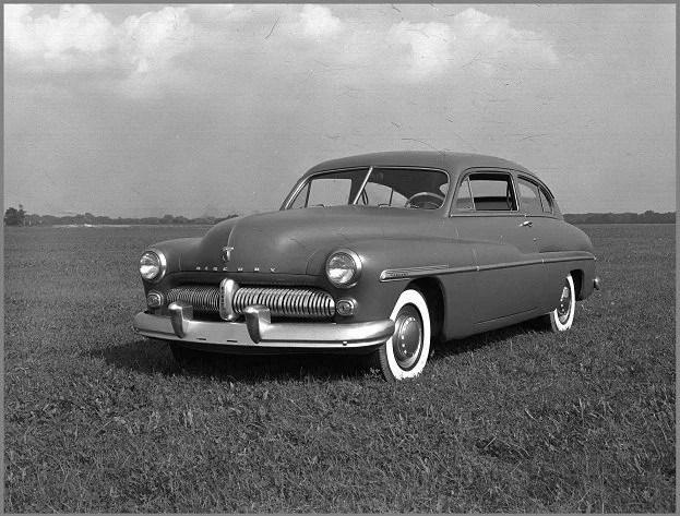 A Grey 1949 Mercury