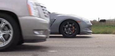 Hennessey Cadillac Escalade vs Nissan GT-R