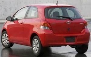 2011 Toyota Yaris rear