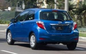 2012 Toyota Yaris rear