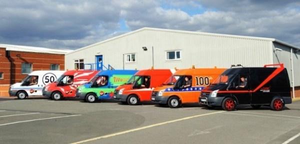Virgin Media TiVo themed Vans