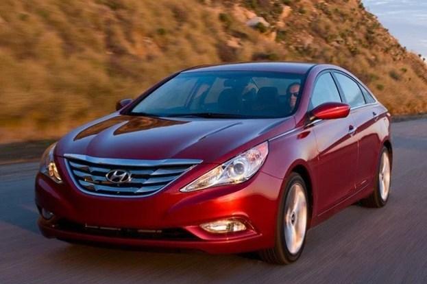 Hyundai Sonata on the road