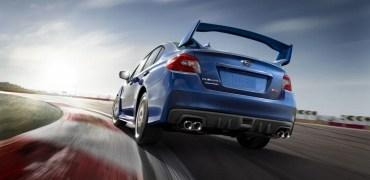 2015 Subaru WRX STI rear driving